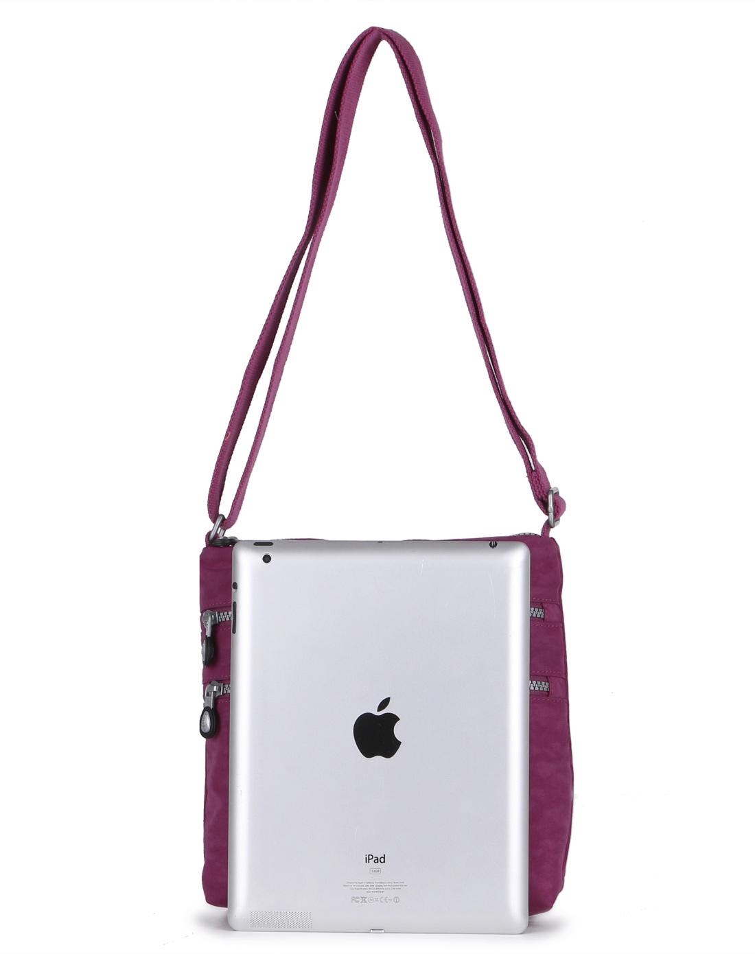 法姿frazzil女款紫红纯色斜挎包w10471