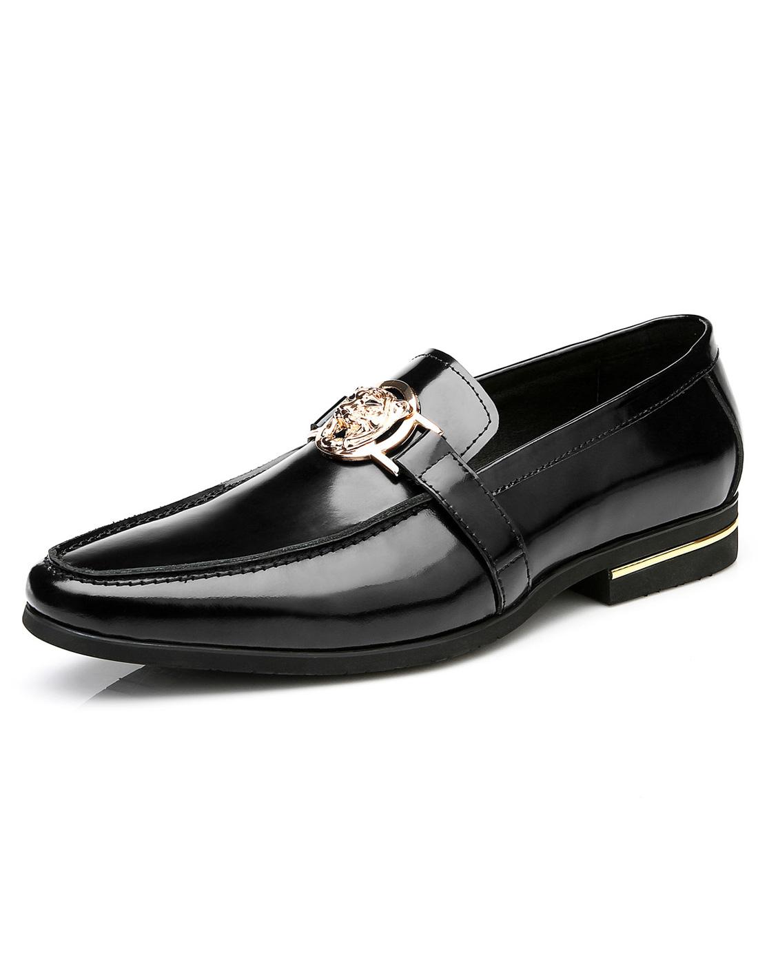 欧伦堡olunpo鞋子专场黑色韩版正装男鞋qlxs1218-01