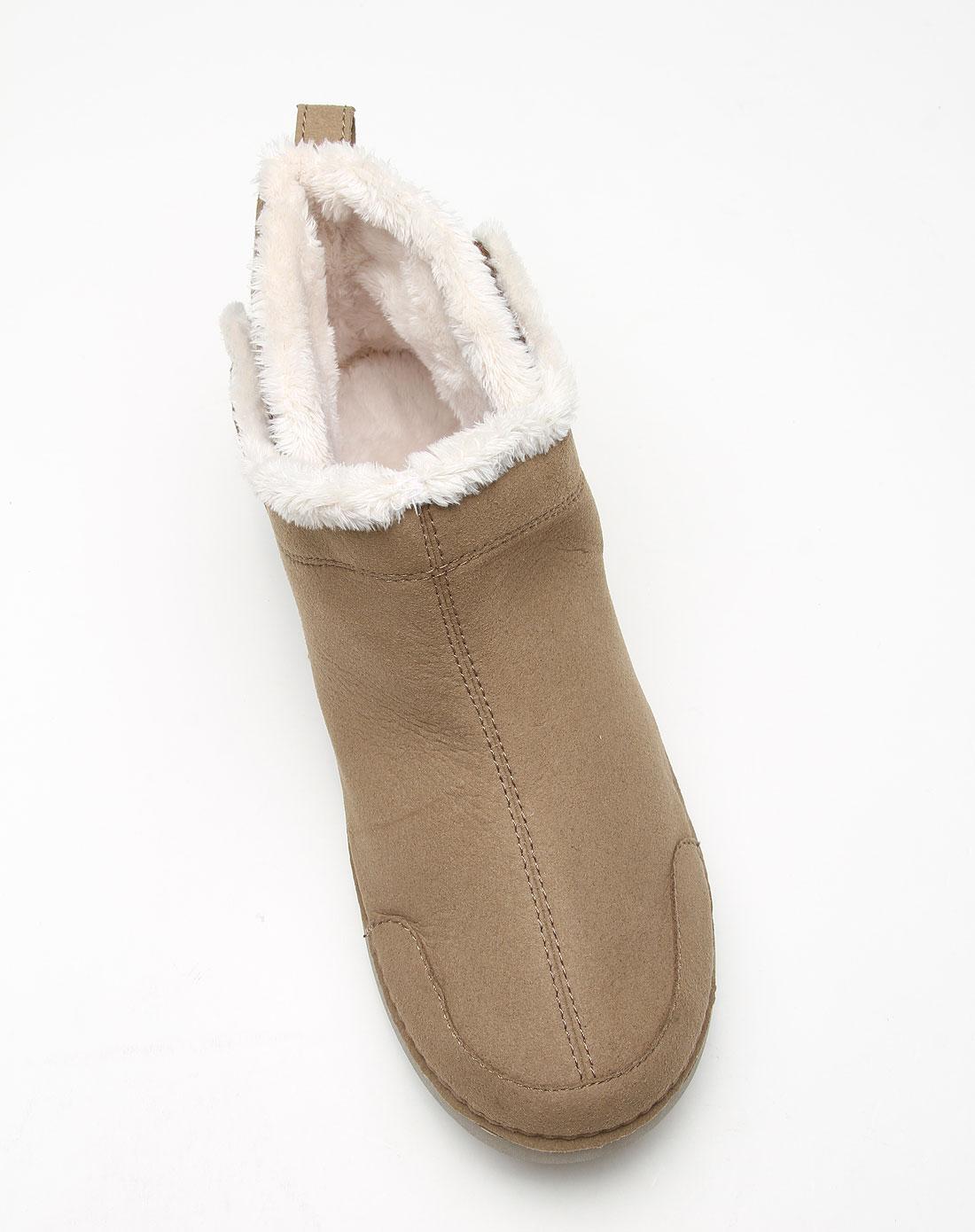 卡骆驰crocs男女卡其色惬意温暖平底短靴12809-29u