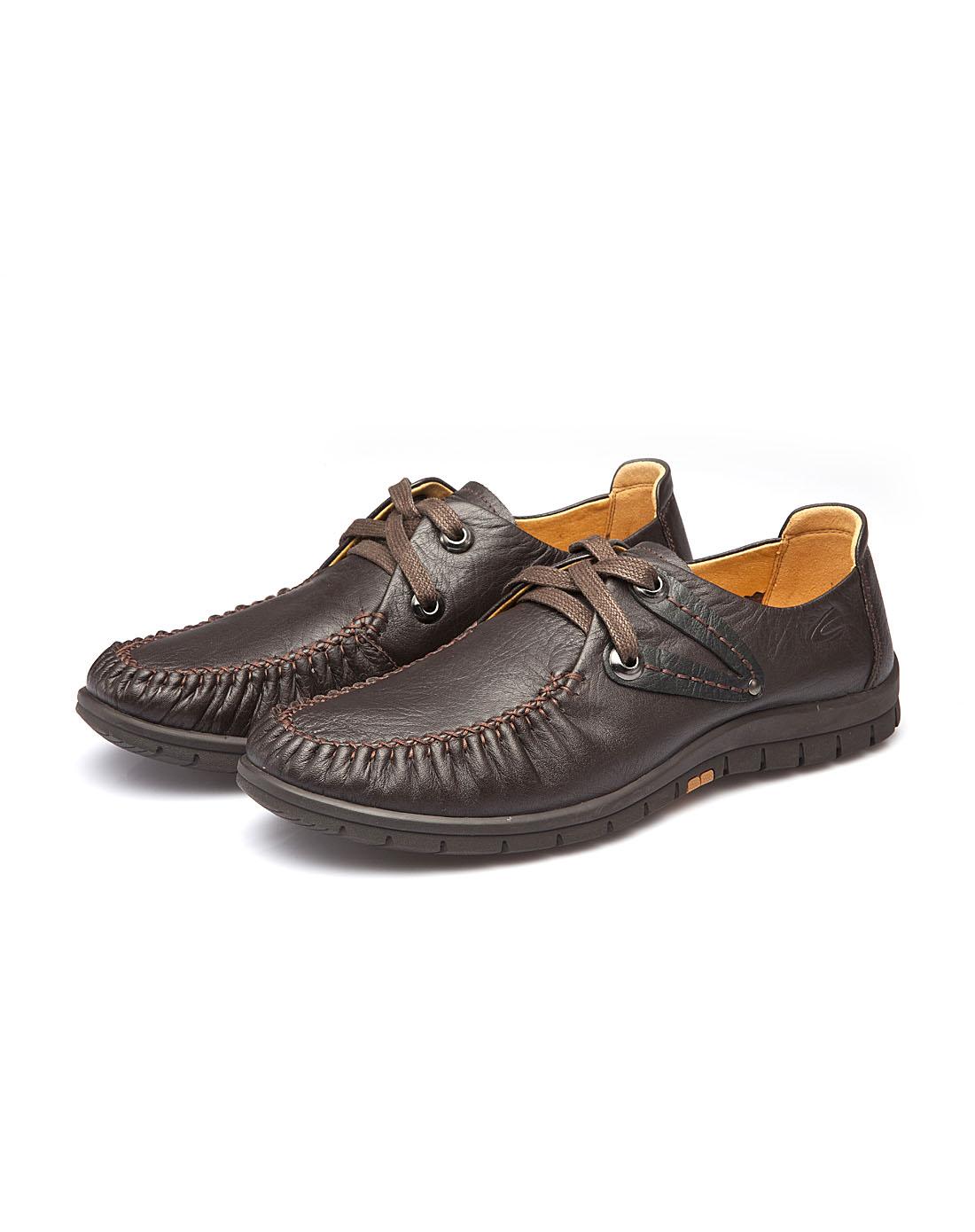 active棕色牛皮休闲单鞋c6350615602