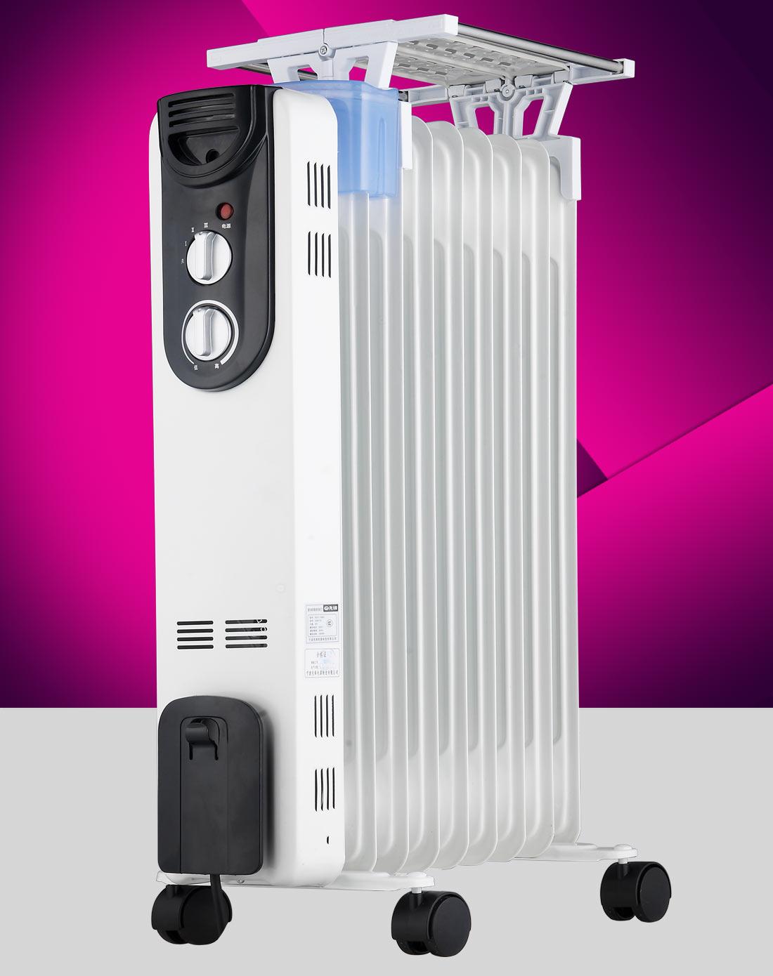 先锋singfun电暖专场9片白色电热油汀电暖器ndy-16b