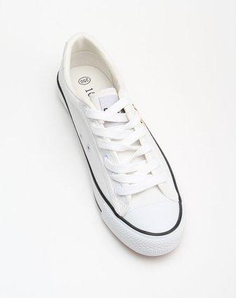 男款经典休闲白色帆布鞋