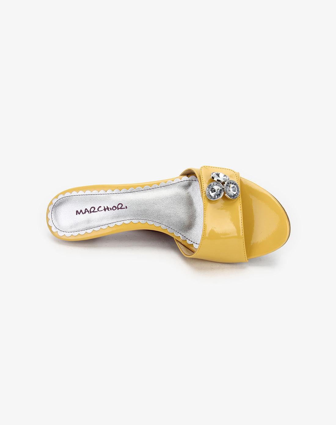 蜜丝罗妮marchiori黄柒pu女凉鞋11101426-0020