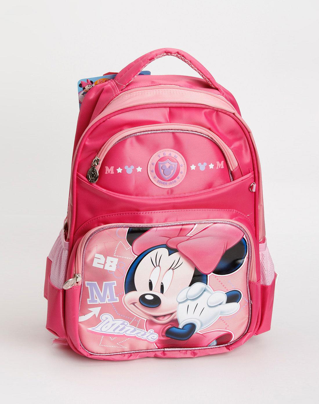 迪士尼disney专场米奇儿童桃红色米妮双肩包cl-m0355