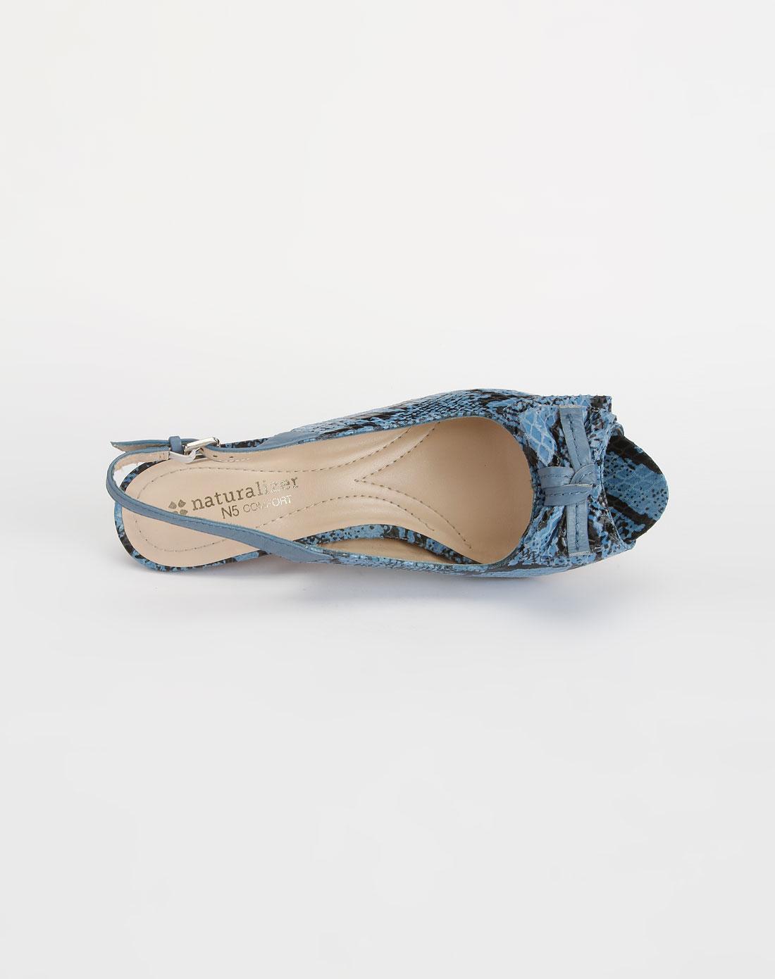 蝴蝶结深蓝色凉鞋np111248
