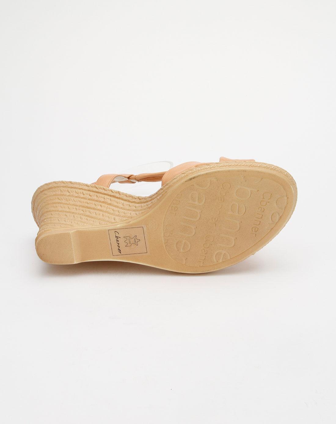 banner黄色羊皮女凉鞋a0331602b12