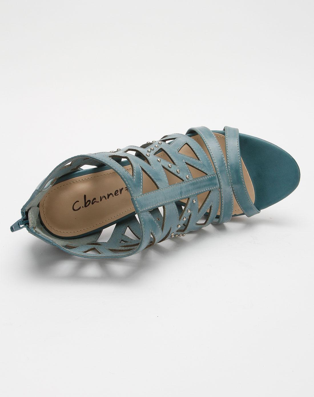 banner蓝色牛皮女凉鞋a1382602c08
