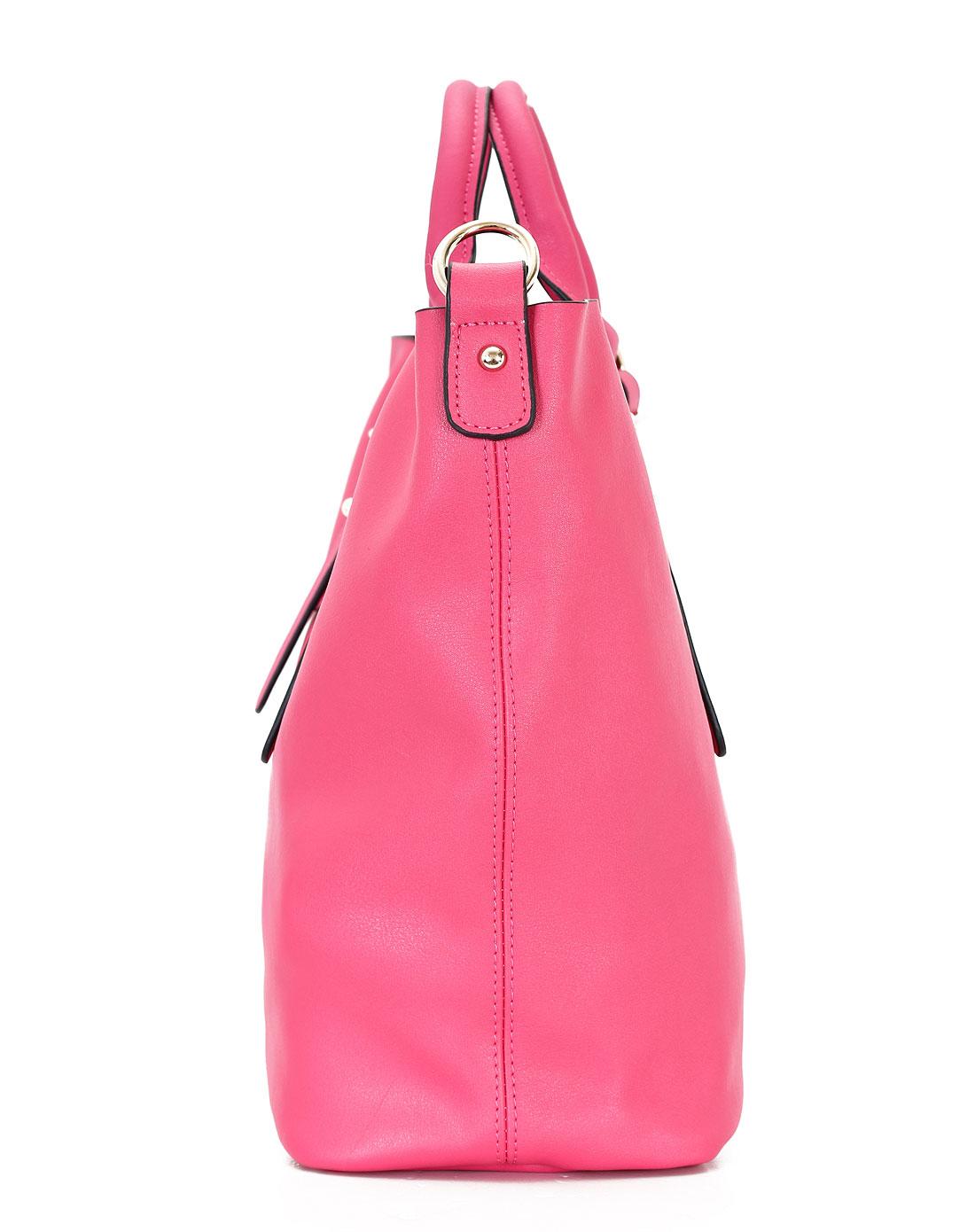 doris女款梅红时尚手提包中包wb4008s