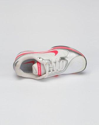 耐克nike-女款白/银色lunar系列绑带网球鞋385718