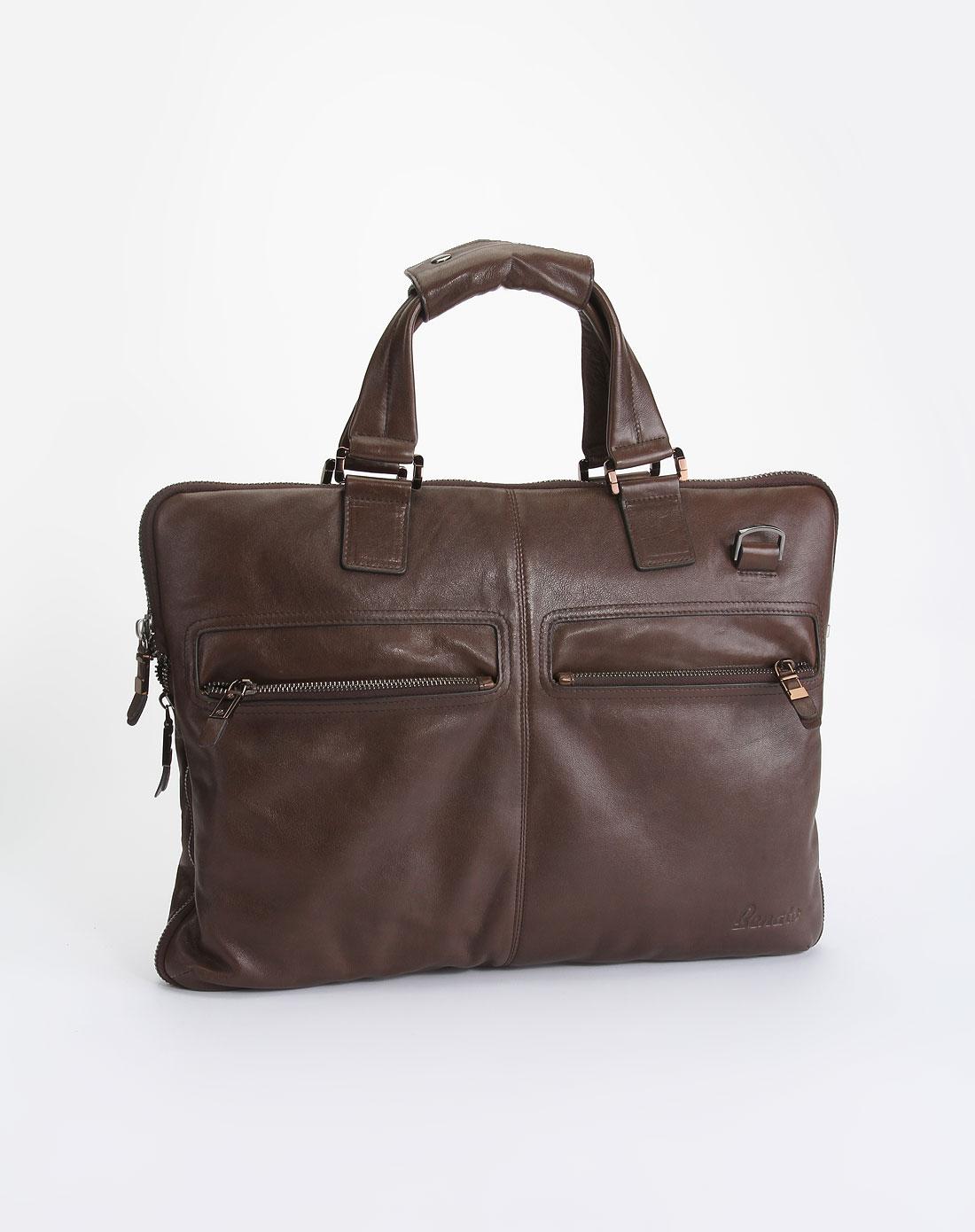 benato男款棕色时尚商务手提包10290301202m