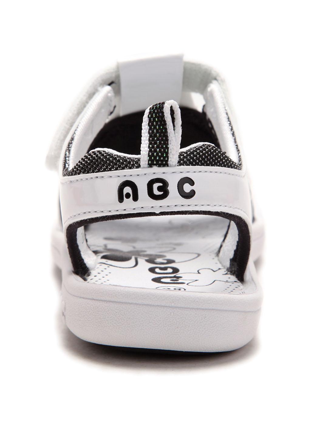 abckids男女童女小童白/黑沙滩运动鞋y22128241-1003