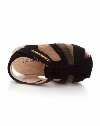 女童鞋男童黑色小皮鞋