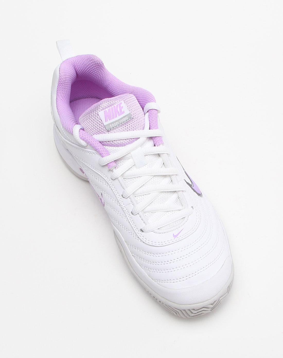 耐克nike-女款车线纹绑带白色运动鞋396045-101