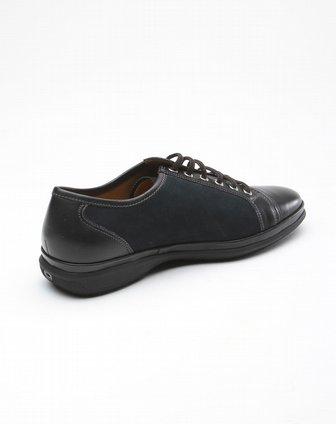 博斯绅威bosssunwen蓝色系带休闲皮鞋bsb3f118e