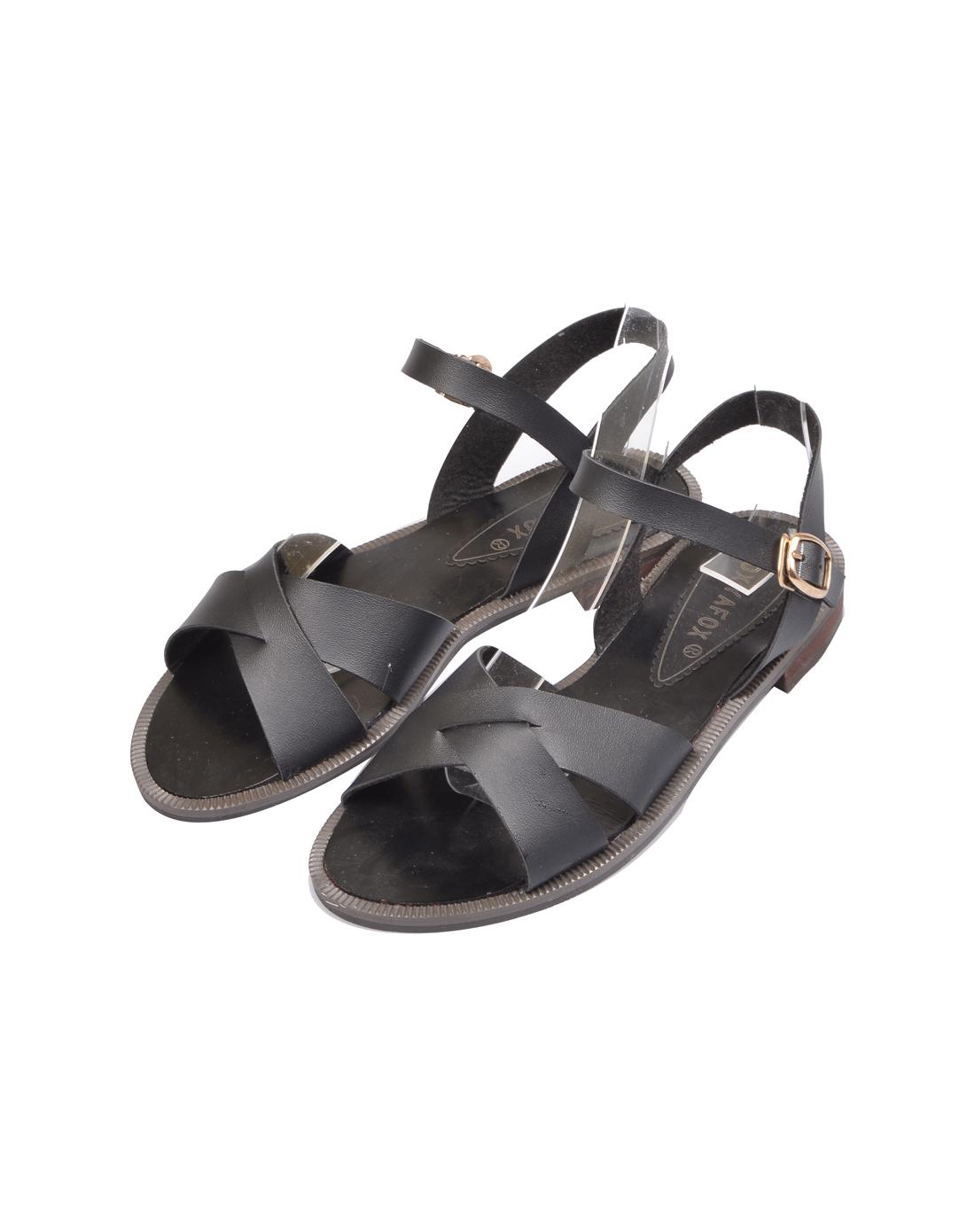 foxyafox平跟平底凉鞋j698-18-s1