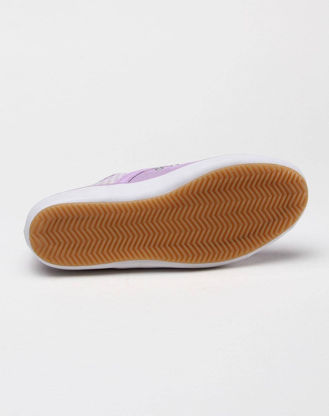 耐克nike-女子淡紫色格子时尚布鞋354042-500