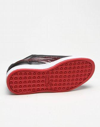 彪马puma圆点黑红色休闲鞋35348801