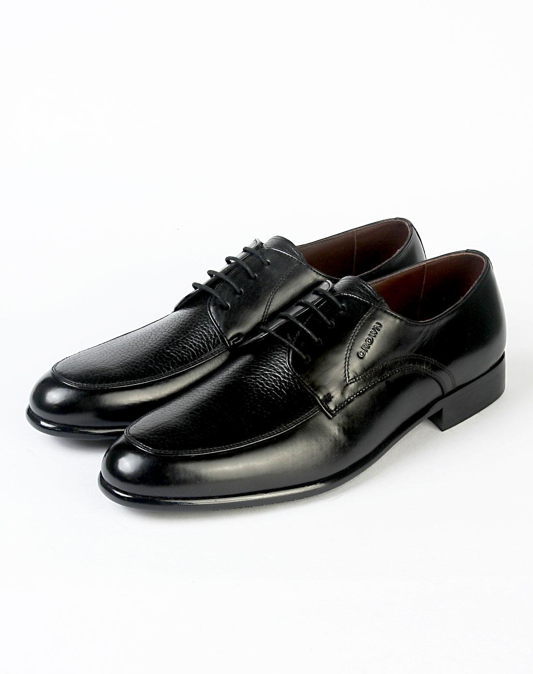 皇冠crown男款黑色单鞋12210088