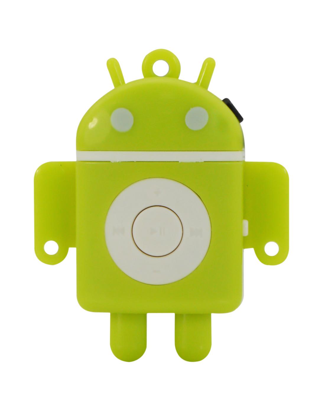 紫光电子uniscom数码专场可爱机器人随身听mp3(绿色)