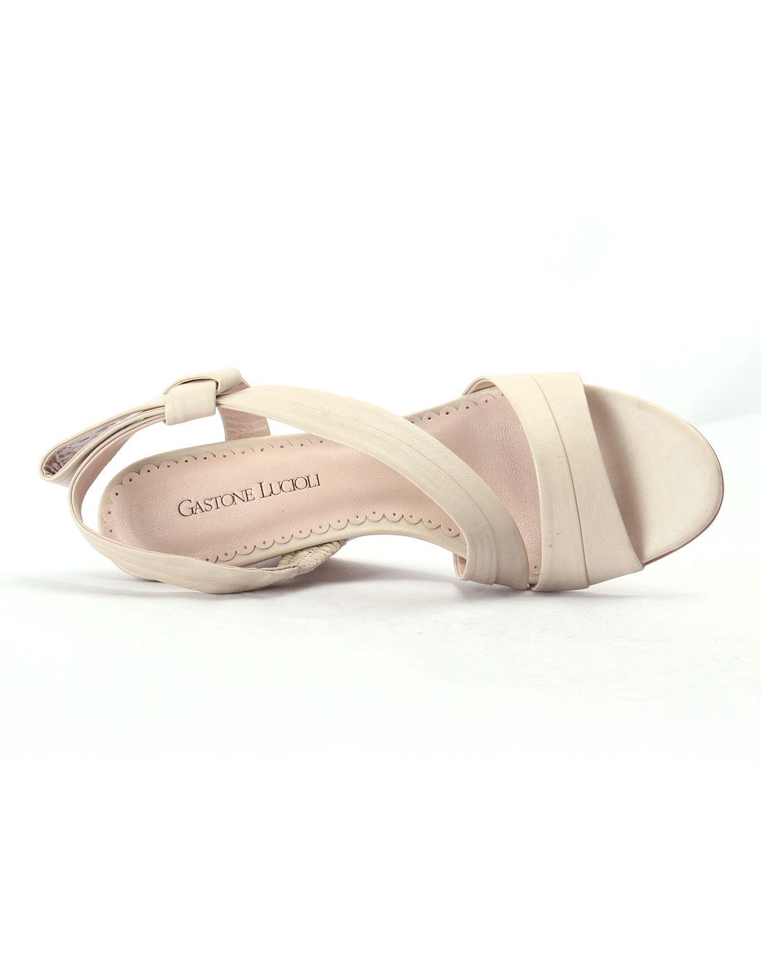 lucioli女款米白色小牛凉鞋gss11b