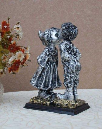 傲乐斯aules壁饰专场欧式趣味树脂摆件接吻小情侣