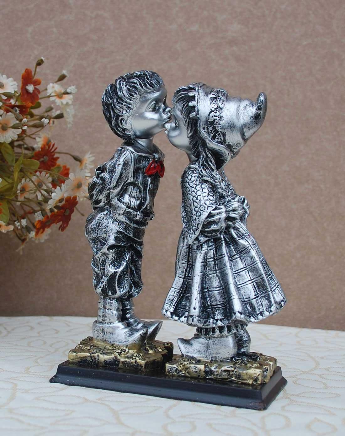 傲乐斯aules壁饰专场欧式趣味树脂摆件接吻小情侣sys