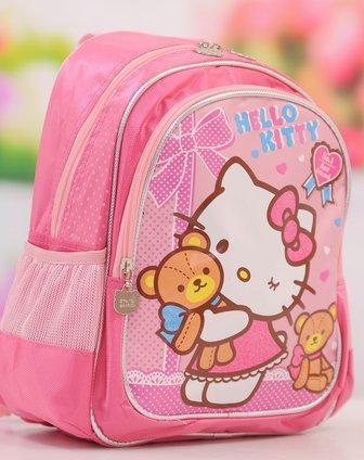 hello kitty&芭比barbie用品hellokitty儿童书包桃红