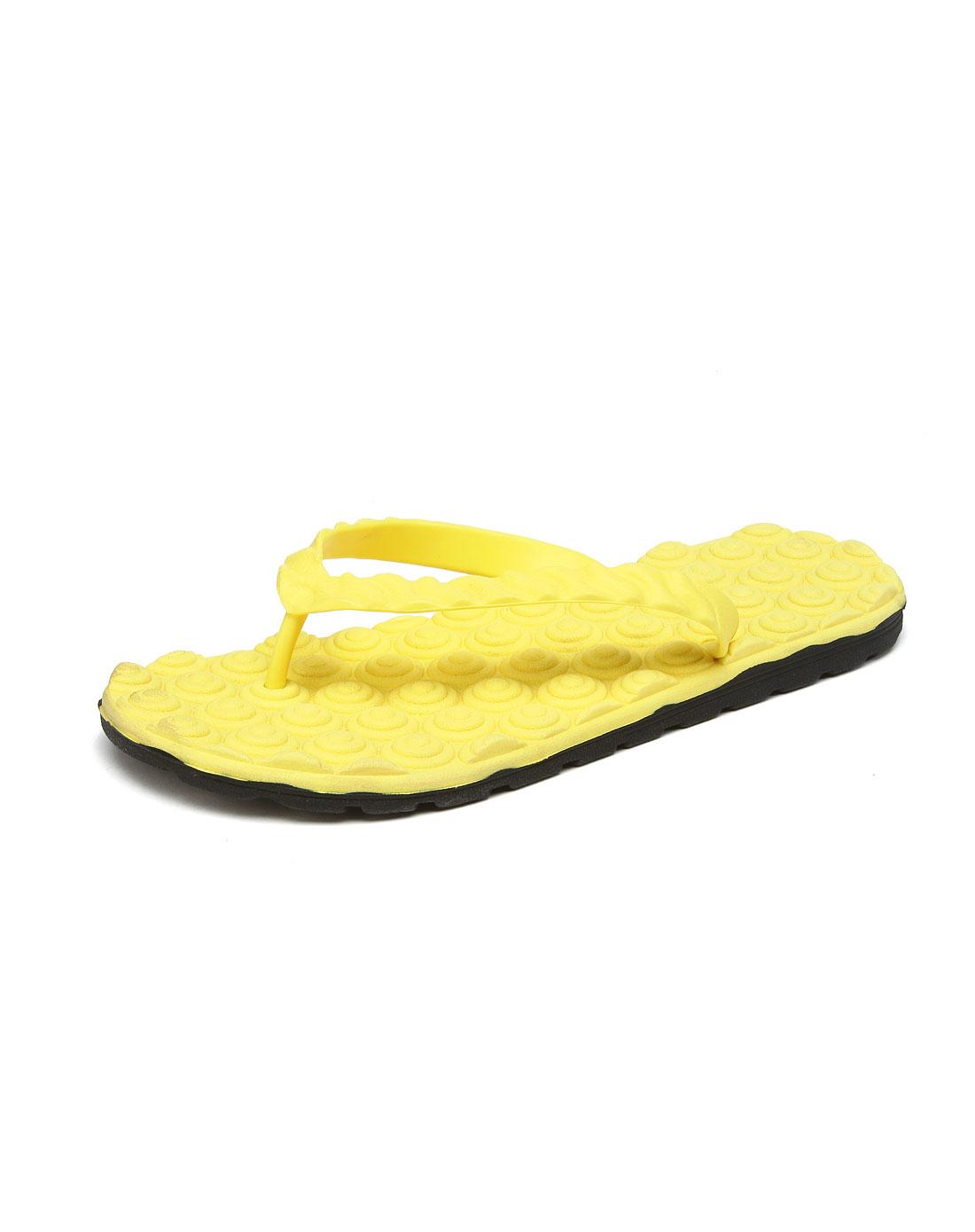 爱居兔eichitoo黄色休闲拖鞋axzj2c022036