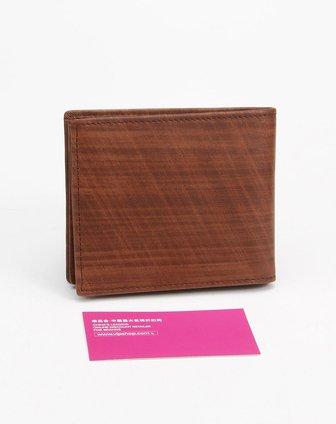 男款啡色木纹风琴横款钱包